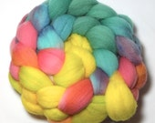SALE - Hand painted Roving - Paradise - Falkland wool, 4 ounces