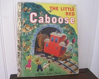 Vintage The Little Red Caboose, Little Golden Book