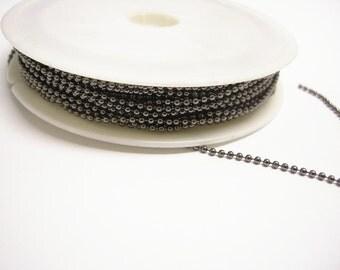 26 feet 1.5mm gunmetal ball chain in spool-8454
