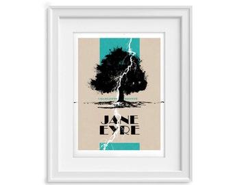 Jane Eyre print - Charlotte Bronte - Lightning poster (12,60 x 18,10)