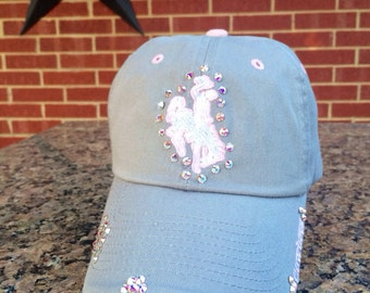 Wyoming Cowboys Bling Hat Distressed Baseball Style