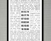 Special Song or Love Letter and Special Dates 11x17 Print