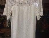 Vintage Cotton Floor Length Nightgown