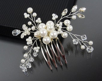 AMELIE Hair Comb, Bridal Hair Comb,  Bridal hairpiece, Wedding hair accessories, Bridal Headpieces, Rhinestone hair comb bridal