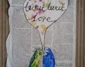 Tweet Tweet Love Original Collage