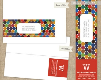 Caterpillar Wrap Around Address Labels | Printable or Printed Labels