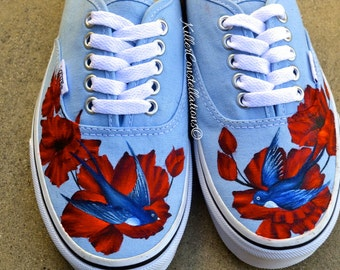 a3df4b7284d9 Custom hand drawn sharpie rose design vans shoes jpg 340x270 Vans shoes with  cool designs