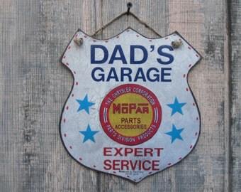 Special Package Dads Garage Mopar Handmade sign 5 hs  Mopar musclecar prints