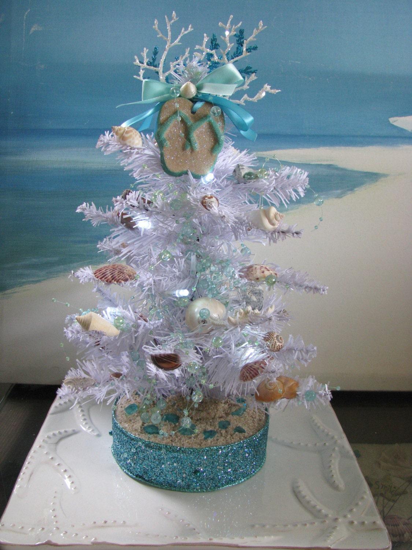Custom Order Seashell Christmas Tree White Pine Coastal