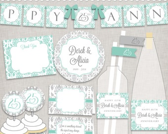 DIY 25th Wedding Anniversary - Silver Anniversary Party