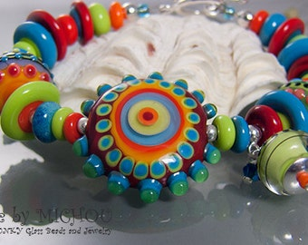 ROMA - Lampwork Bracelet - Design and  Beads by Michou P. Anderson