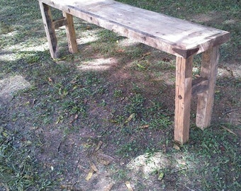 Rustic Side Table, Rustic Foyer Table, Reclaimed Wood
