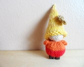 SALE Autumn Wool Waldorf Pocket Gnome