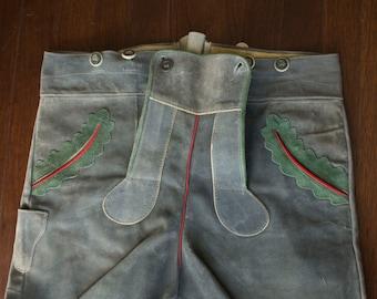 Vintage German Suede/Nubuck Lederhosen Shorts