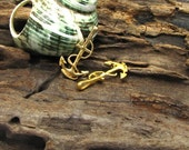 5 pcs - findings - supplies - jewelry findings - anchor  - leather findings - anchor clasp -  necklace - bracelet - golden plated anchor