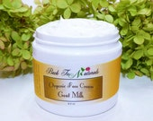 Organic Face Cream - Homemade Goat Milk Face Cream, Paraben Free - Natural Face Cream with Rose Essential Oil or Choose Your Scent 4.5 oz