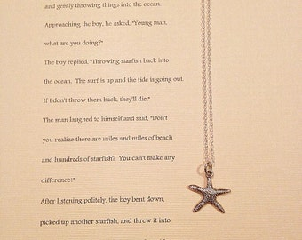 Starfish necklace with Starfish Story