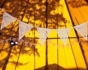 Teepee Bunting, perfect luxury glamping wedding accessory