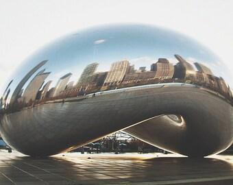 Chicago Cloudgate the Bean Millennium Park large wall photograph urban photography
