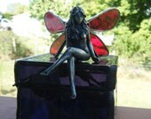 Stained glass cast fairy