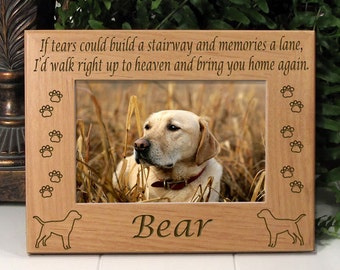 Labrador Retriever If Tears Poem Dog Memorial Frame