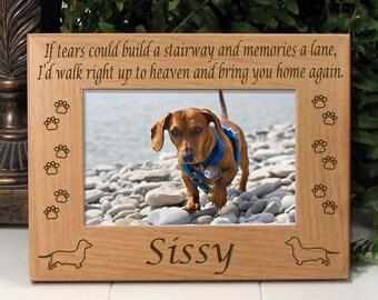 Dachshund If Tears Poem Dog Memorial Frame