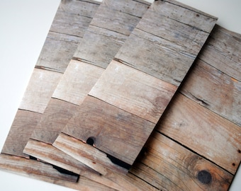 Barn Wood Set of 3 Handmade Envelopes by Paper Hearts Station on Etsy