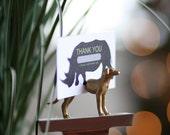 Animal Escort Cards for Farm Wedding - Outdoor Australian Wedding California Wedding Bonbonniere Cards