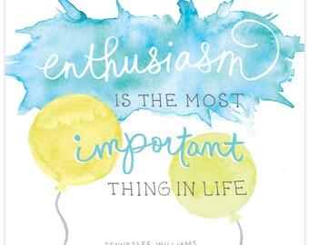 Enthusiasm print