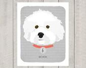 Bichon - Dog Nursery Art Print - Custom