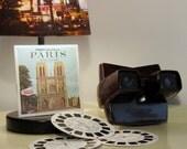 Vintage dark and brown Bakelite View Master with 3 Reels of 3 dimensional pictures of Paris
