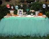 Tutu table skirt, Tulle table skirt, custom made, candy buffet skirt, ruffle tulle skirt