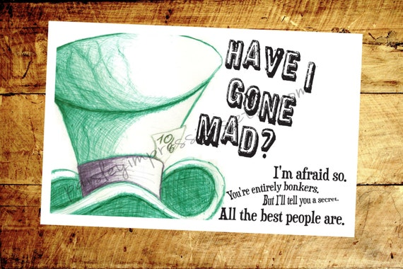 Mad Hatter Quotes From Alice in Wonderland 2010 Mad Hatter Quote From Alice in