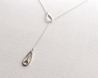 Eiffel Tower Lariat Necklace in Sterling Silver