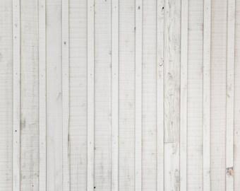 White Panel Wood - Exclusive - Vinyl Photography Backdrop Floordrop Prop
