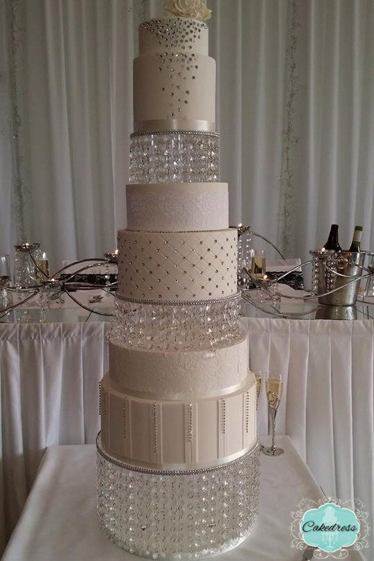 wedding cake stands with crystals wedding cake stand 2 tier by cakedress on etsy 25676