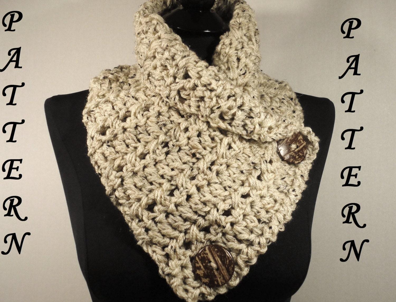 Crochet Pattern Scarf Cowl Neckwarmer With By Villayarndesigns