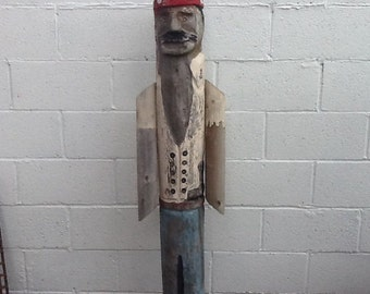 Folk Art Pirate 1960's Telephone Pole Art