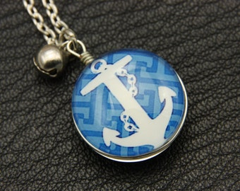 Necklace anchor Double sided cabochon