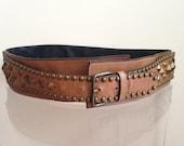 ESCADA Leather Studded Belt