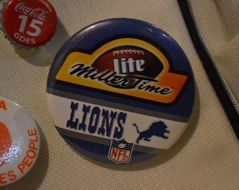 Vintage Detroit Lion's Miller Time Lite Pin