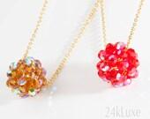 Shiny Crystal Ball Necklace
