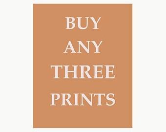 Buy Any Three 8 X 10 Prints from Fun Keep Calm Art Prints