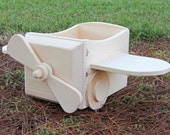 HUGE SALE!!!  Unpainted Small Wooden Airplane Photography Prop (First 5 Customers Only)