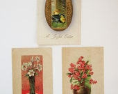 Three Vintage Easter Postcards  - 1920s - Printing From Germany - One Posted in 1912 - Collectible - Garden - Craft, Art, Study - Holiday