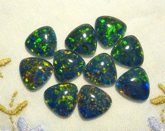Loose Natural Triplet Opal Stones 10 mm Trillion 10 pieces Item 60425.