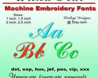 Download Machine Embroidery Alphabet: Alison Font.