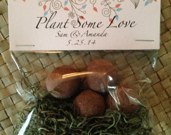Sample: 1 Seed Bomb Package FREE SHIPPING-  Wedding Favors, Natural Favor, Party Favor, Guest Gift, Seed Bomb, Flower Seeds, Wildflowers