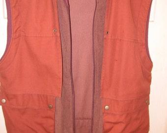 Mauve TOMBOY 1980s corduroy vest size 7 to 9