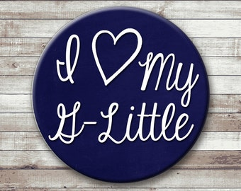 I Heart My G-Little - Sister Button - Magnet - Key Chain - Pocket Mirror - Guard Sister - Grand Little Sister -  Color Guard